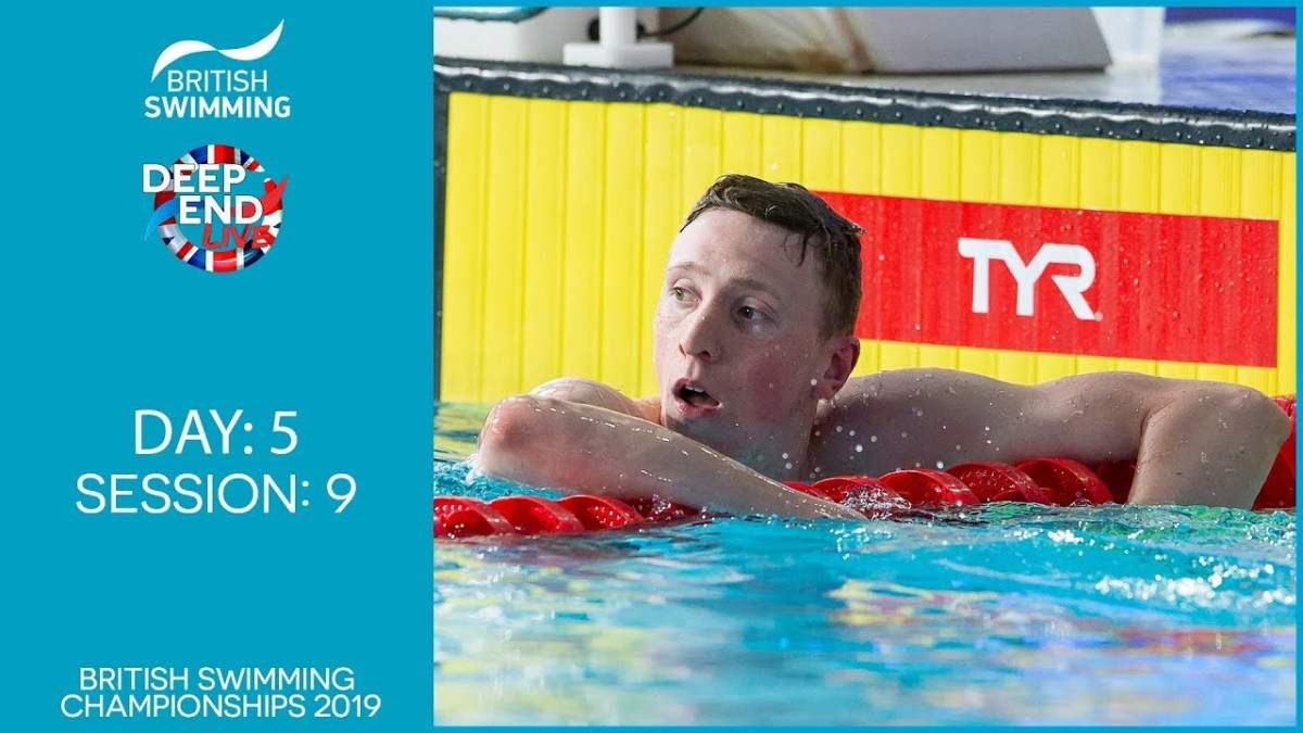 Live Stream: British Swimming Championships 2019 – Session 9