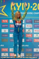 LYSKUN SOFIIA UKR Ukraina Gold medal Kyiv, Ukraine UKR 06/08/2019 10 meters platform women final Len European Diving Championships 2019 Sport Arena Liko Kyiv, Ukraine Photo © Giorgio Scala / Deepbluemedia / Insidefoto