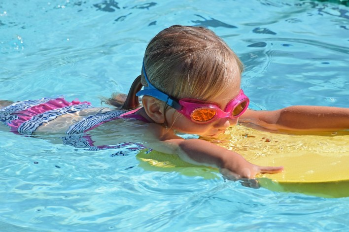kids pool swimming photo