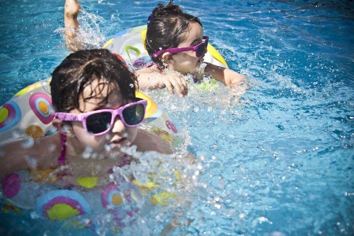 kids swimming sunglasses photo