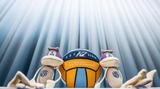 Mascot and KAP Seven official championships ball Budapest , Hungary 10/01/2020 XXXIV LEN European Water Polo Championships 2020 DUNA Arena Swimming Centre Photo Giorgio Scala / Deepbluemedia / Insidefoto