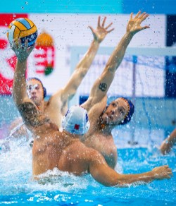7 DELGADO BACHES Adria ESP Spain Budapest 14/01/2020 Duna Arena MLT - Malta (white caps) Vs. ESP - Spain (blue caps) Men XXXIV LEN European Water Polo Championships 2020 Photo ©Pasquale Mesiano / Deepbluemedia / Insidefoto
