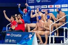 Croatia Budapest 16/01/2020 Duna Arena Montenegro (white caps) Vs. Croatia (blue caps) Men XXXIV LEN European Water Polo Championships 2020 Photo ©Andrea Staccioli / Deepbluemedia / Insidefoto