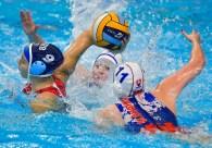 9 ILIC Hristina SRB Serbia Budapest 17/01/2020 Duna Arena SVK - Slovakia (white caps) Vs. SRB - Serbia (blue caps) Women XXXIV LEN European Water Polo Championships 2020 Photo ©Pasquale Mesiano / Deepbluemedia / Insidefoto