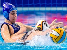 3 ISR FARKASH Yahav Israel, 2 GER VOSSEBERG Belen Germany Budapest 19/01/2020 Duna Arena Germany (white caps) Vs. Israel (blue caps) Women XXXIV LEN European Water Polo Championships 2020 Photo ©Giorgio Scala / Deepbluemedia / Insidefoto