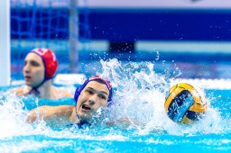 6 CRO BUKIC Luka Croatia Budapest 24/01/2020 Duna Arena Spain (white caps) Vs. Croatia (blue caps) Men Semifinal XXXIV LEN European Water Polo Championships 2020 Photo ©Giorgio Scala / Deepbluemedia / Insidefoto