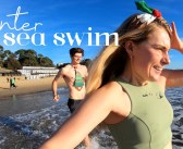 Winter Sea Swim UK – Christmas Day at Bournemouth Beach! ❄️❄️❄️❄️