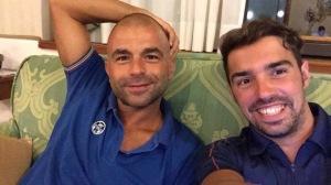 Mattia Ferru (ex) con il suo coach Alessio Suergiu (ex)