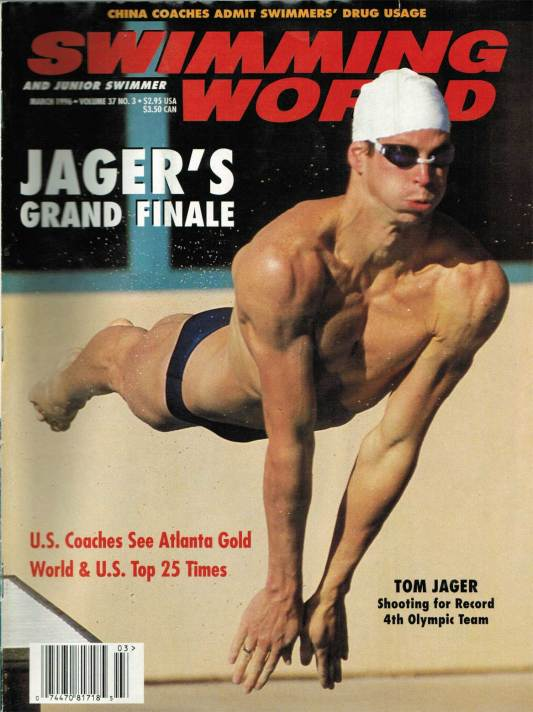 Swimming World Magazine March 1996 Issue- PDF ONLY - Cover