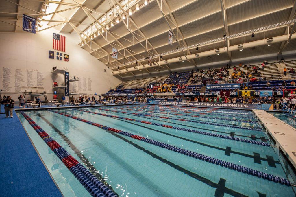 IU Natatorium competition pool.
