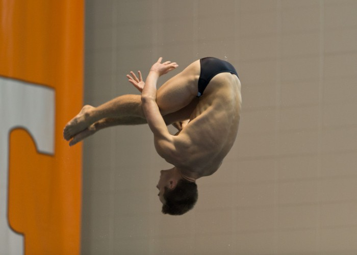 KNOXVILLE, TN - August 16, 2014: Jack Nyquist during the 2014 USA Senior Diving National Event at Allan Jones Aquatic Center in Knoxville, TN. Photo By Matthew S. DeMaria
