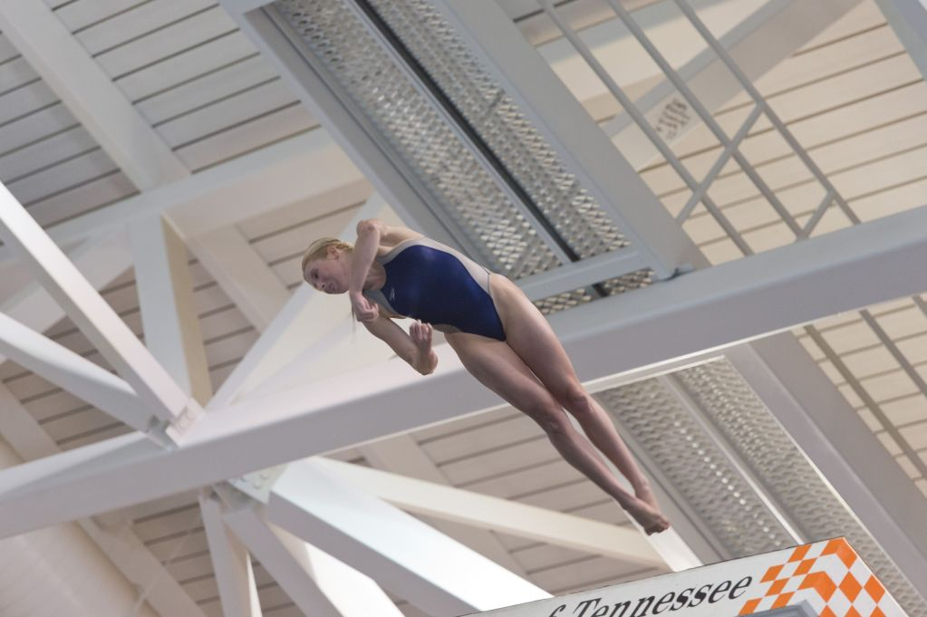 KNOXVILLE, TN - August 16, 2014: Kahley Rowell during the 2014 USA Senior Diving National Event at Allan Jones Aquatic Center in Knoxville, TN. Photo By Matthew S. DeMaria