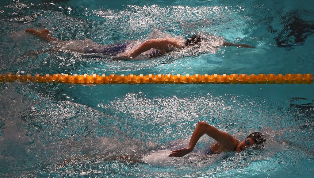 30 April 2015; Grainne Murphy, New Ross, competes during the heats of the women's 200m freestyle event. 2015 Irish Open Swimming Championships, National Aquatic Centre, Dublin. Picture credit: Stephen McCarthy / SPORTSFILE