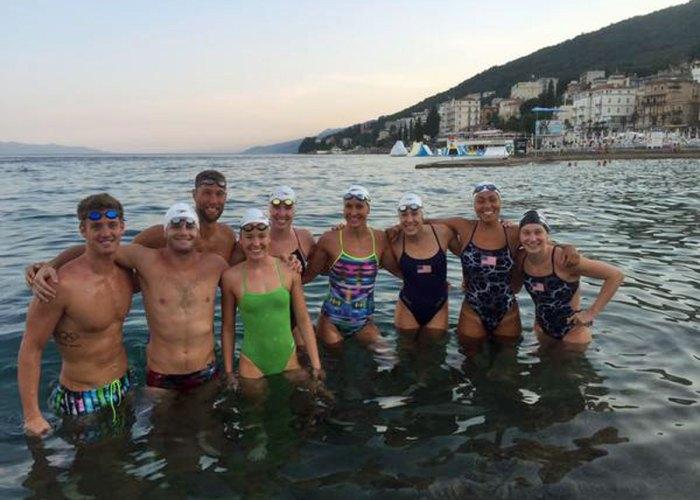 USA Swimming team in Croatia