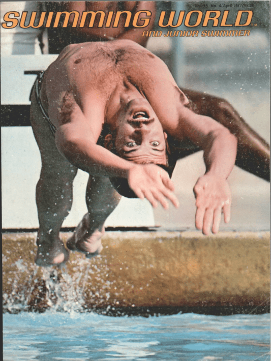 Swimming World Magazine April 1977 Issue- PDF ONLY - Cover