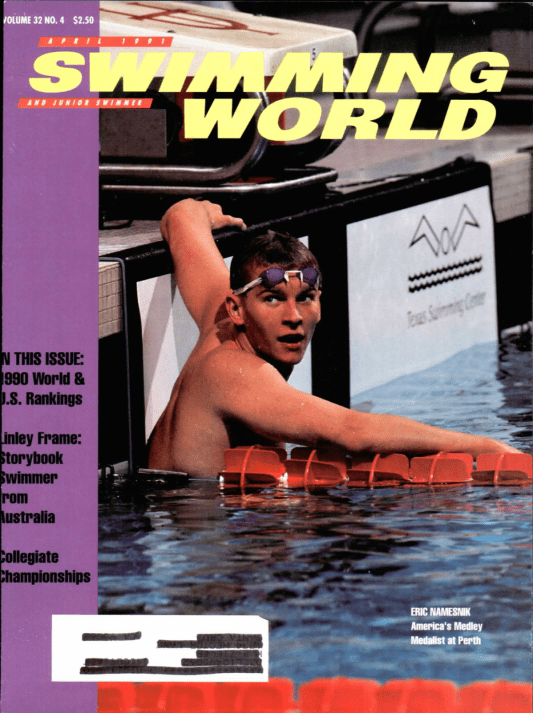 Swimming World Magazine April 1991 Issue- PDF ONLY - Cover