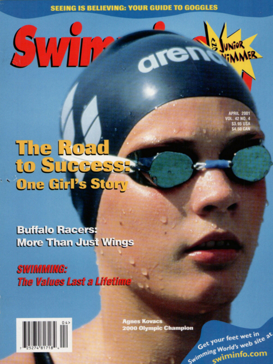 Swimming World Magazine April 2001 Issue- PDF ONLY - Cover