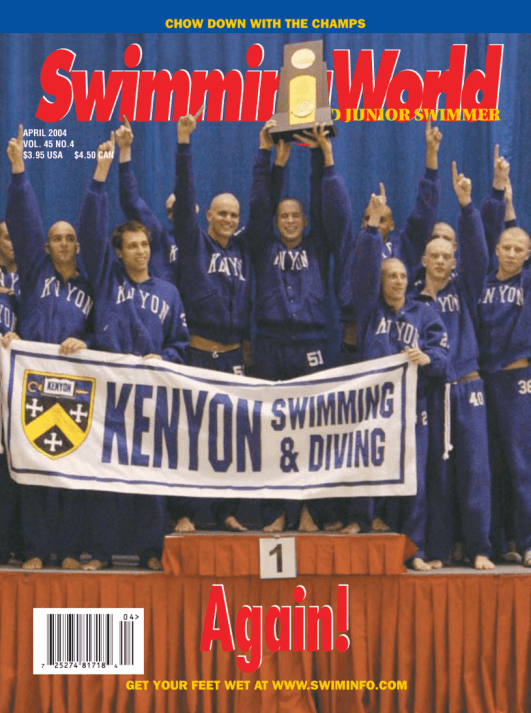 Swimming World Magazine April 2004 Issue- PDF ONLY - Cover