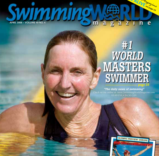 Swimming World Magazine April 2008 Issue- PDF ONLY - Cover