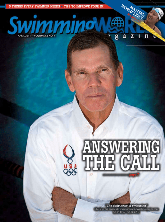 Swimming World Magazine April 2011 Issue- PDF ONLY - Cover