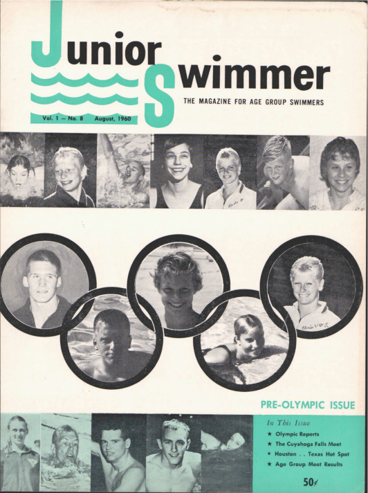 Swimming World Magazine August 1960 Issue- PDF ONLY - Cover