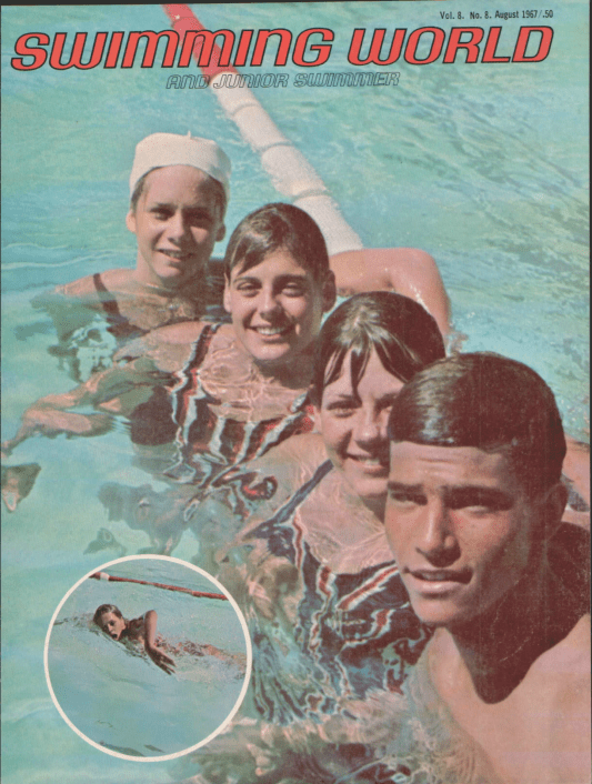 Swimming World Magazine August 1967 Issue- PDF ONLY - Cover