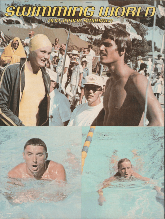 Swimming World Magazine August 1971 Issue- PDF ONLY - Cover