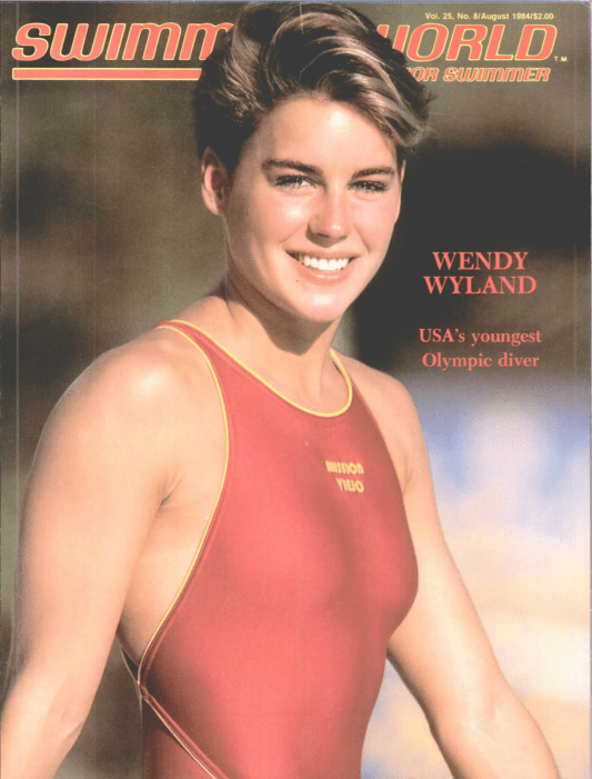 Swimming World Magazine August 1984 Issue- PDF ONLY - Cover