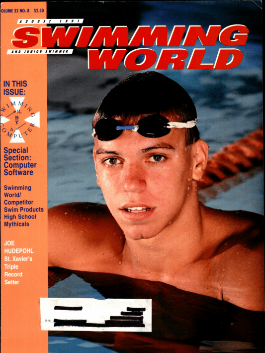 Swimming World Magazine August 1991 Issue- PDF ONLY - Cover