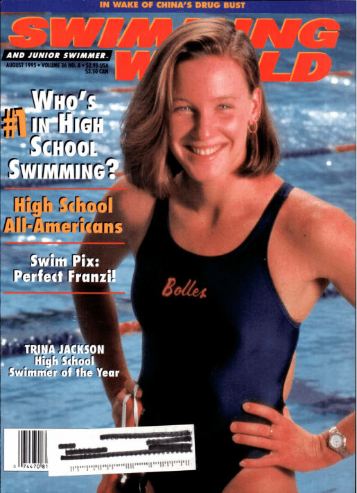 Swimming World Magazine August 1995 Issue- PDF ONLY - Cover