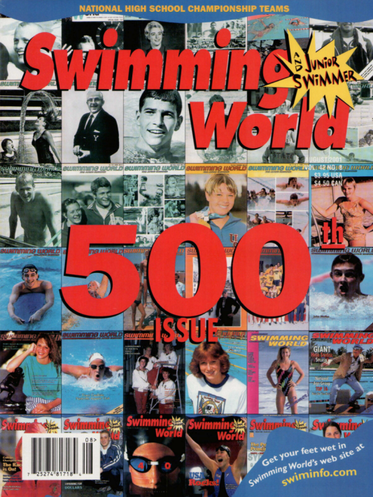 Swimming World Magazine August 2001 Issue- PDF ONLY - Cover