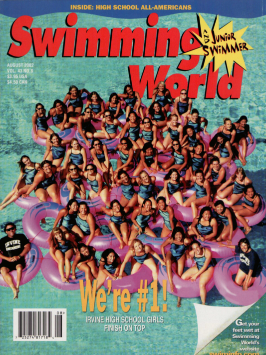 Swimming World Magazine August 2002 Issue- PDF ONLY - Cover