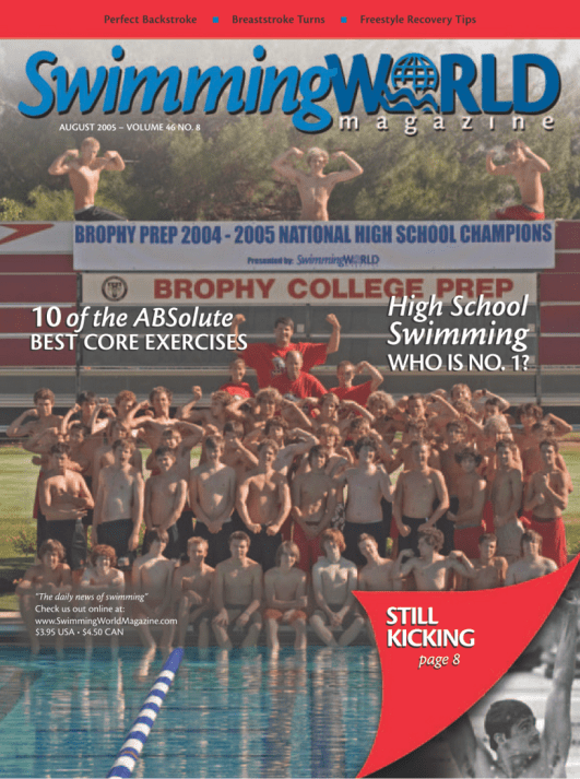 Swimming World Magazine August 2005 Issue- PDF ONLY - Cover