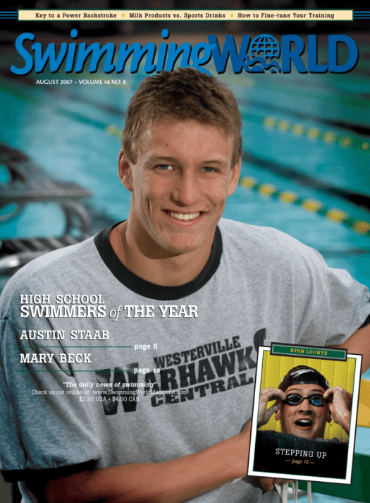 Swimming World Magazine August 2007 Issue- PDF ONLY - Cover