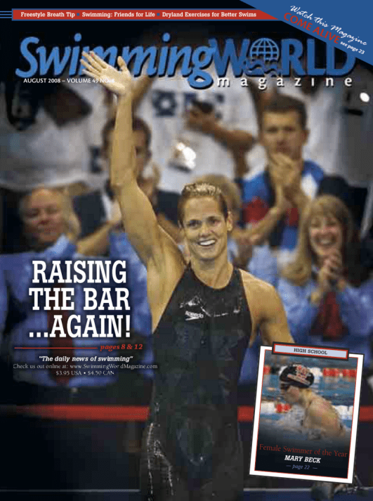 Swimming World Magazine August 2008 Issue- PDF ONLY - Cover