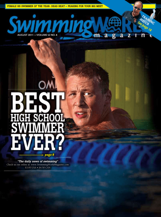 Swimming World Magazine August 2011 Issue- PDF ONLY - Cover
