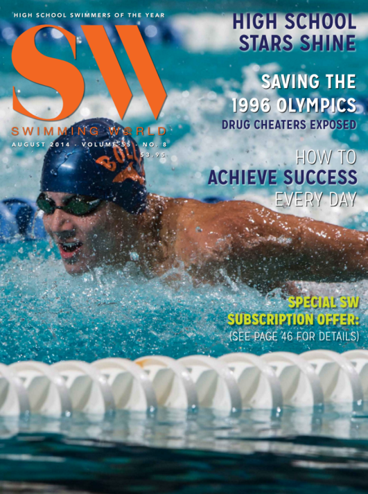 Swimming World Magazine August 2014 Issue- PDF ONLY - Cover