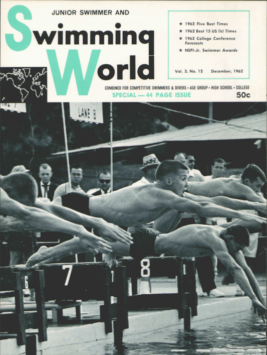Swimming World Magazine December 1962 Issue- PDF ONLY - Cover