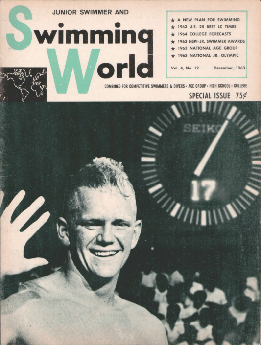 Swimming World Magazine December 1963 Issue- PDF ONLY - Cover