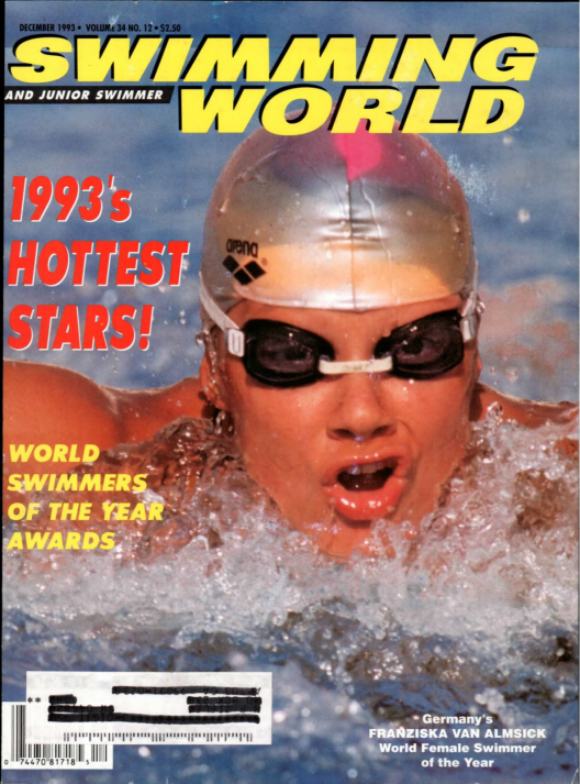 Swimming World Magazine December 1993 Issue- PDF ONLY - Cover
