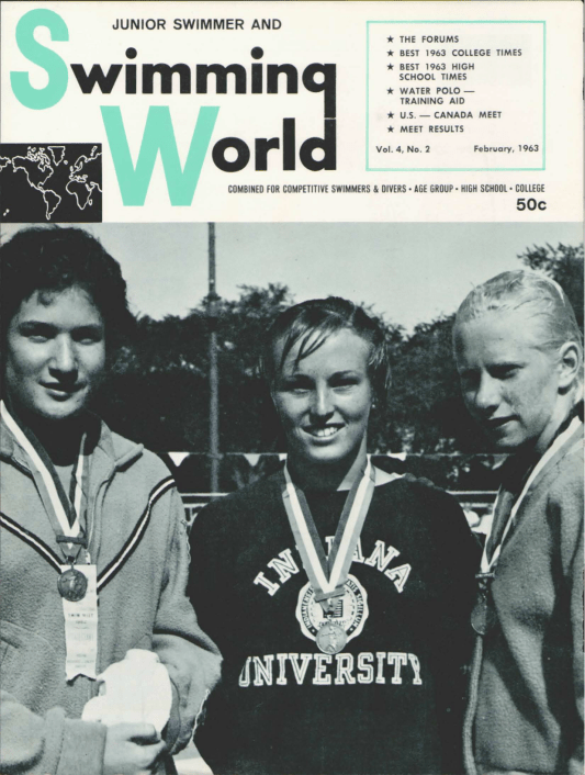 Swimming World Magazine February 1963 Issue- PDF ONLY - Cover