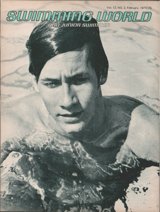 Swimming World Magazine February 1971 Issue- PDF ONLY - Cover