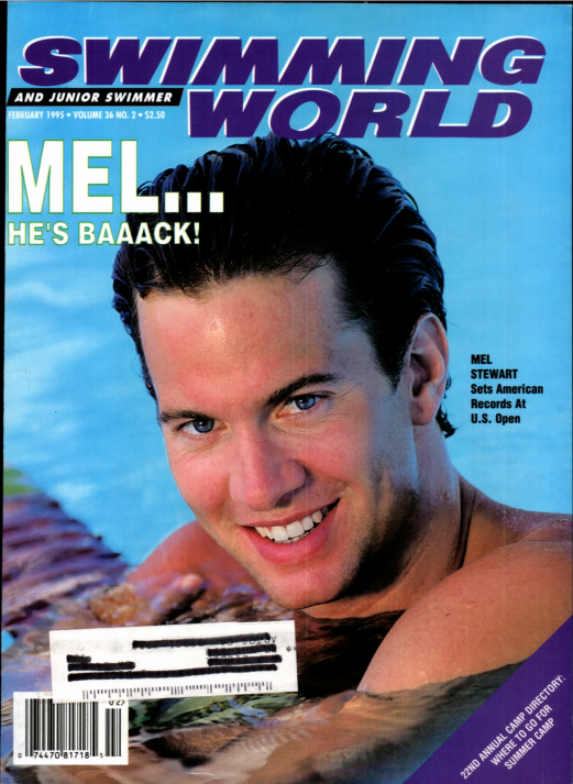 Swimming World Magazine February 1995 Issue- PDF ONLY - Cover