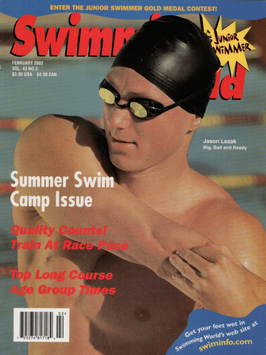 Swimming World Magazine February 2002 Issue- PDF ONLY - Cover