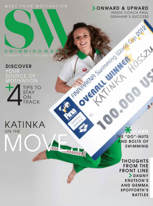 Swimming World Magazine February 2013 Issue- PDF ONLY - Cover