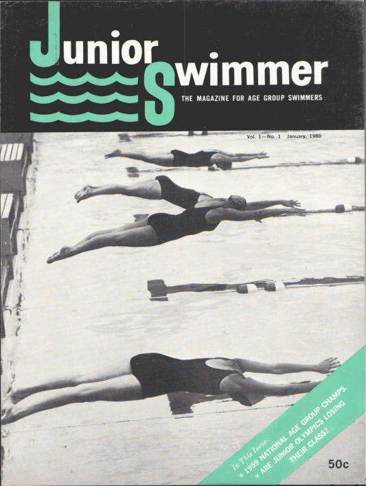 Swimming World Magazine January 1960 Issue- PDF ONLY - Cover