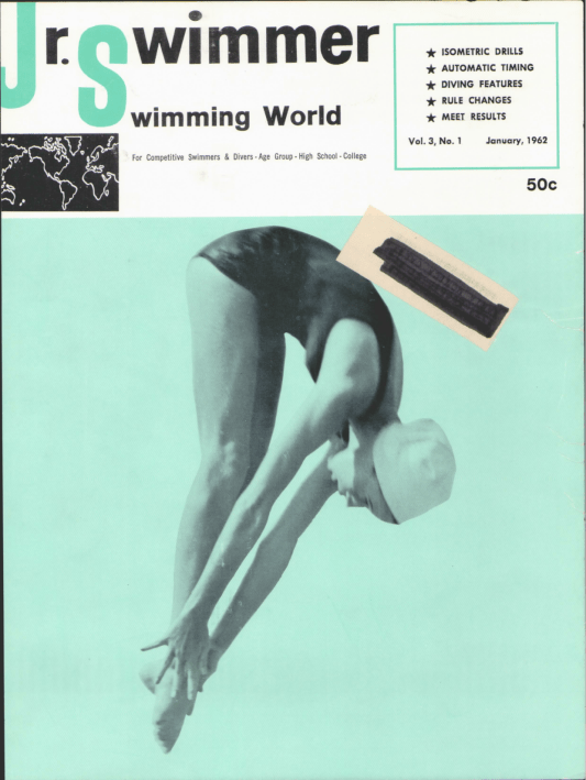 Swimming World Magazine January 1962 Issue- PDF ONLY - Cover