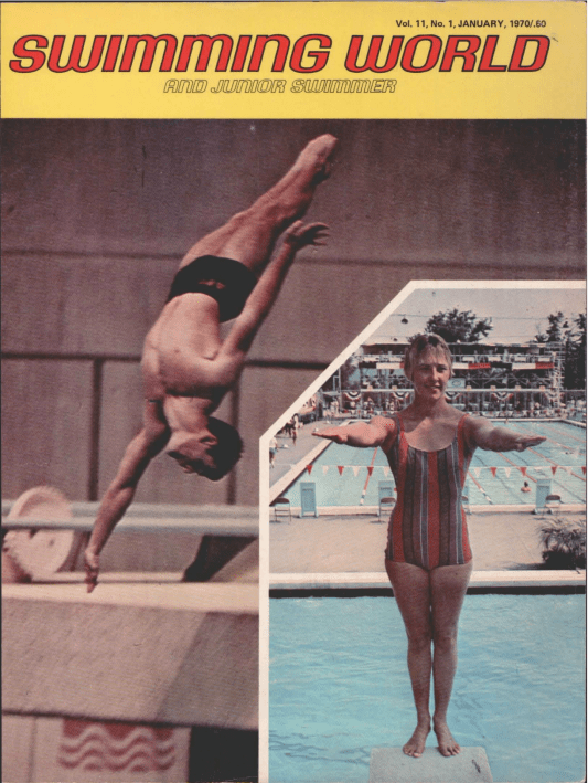 Swimming World Magazine January 1970 Issue- PDF ONLY - Cover