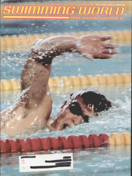 Swimming World Magazine January 1980 Issue- PDF ONLY - Cover