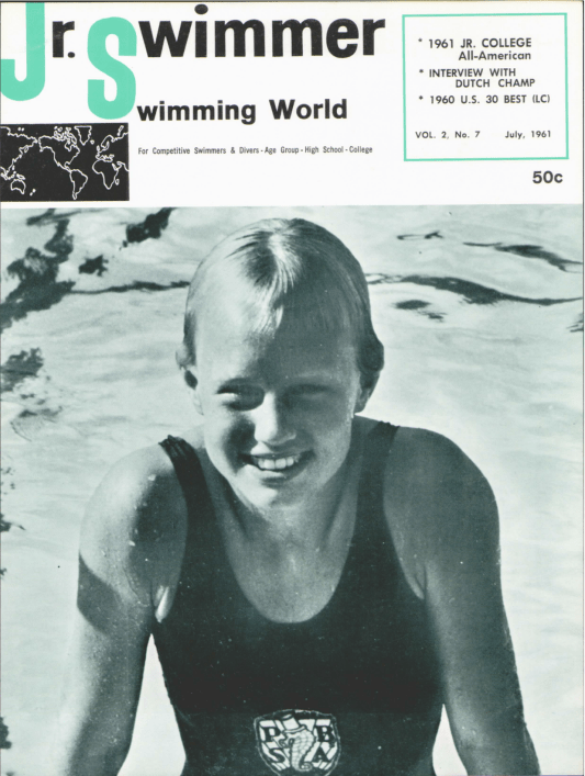 Swimming World Magazine July 1961 Issue- PDF ONLY - Cover